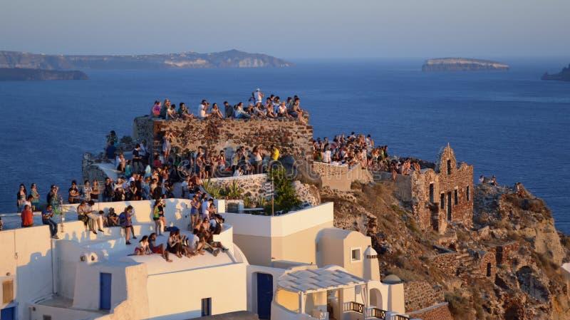 Sunset Watchers stock photo