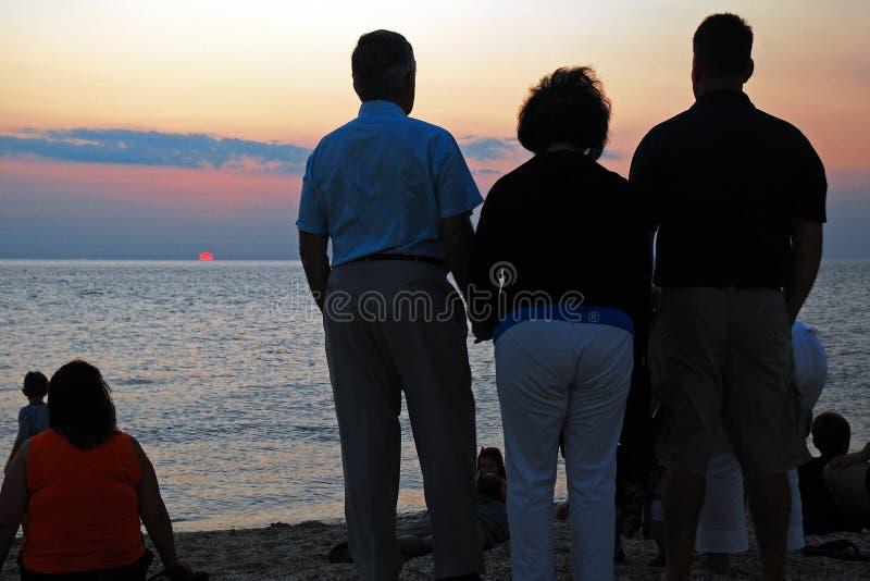 Sunset Watching royalty free stock image