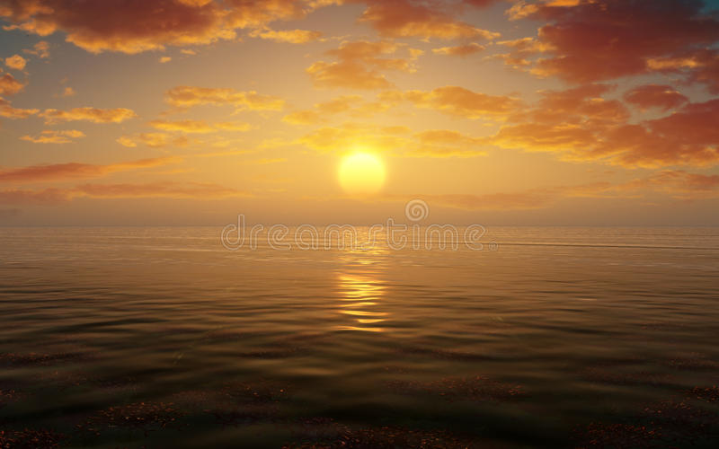 Download Sunset Water Scape Stock Illustration - Image: 43717866
