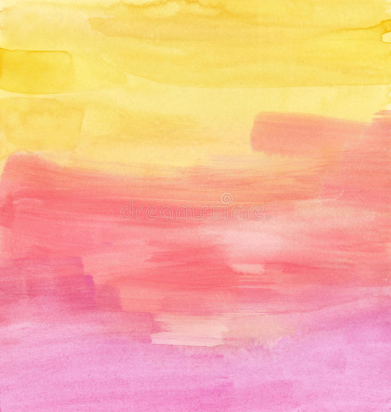 Sunset Watercolor Texture royalty free illustration