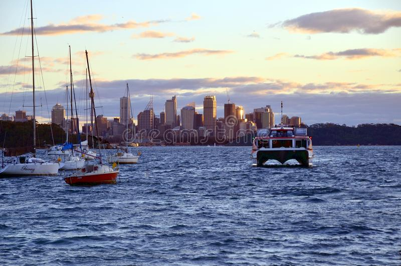 Sunset in Watsons Bay, Sydney royalty free stock images