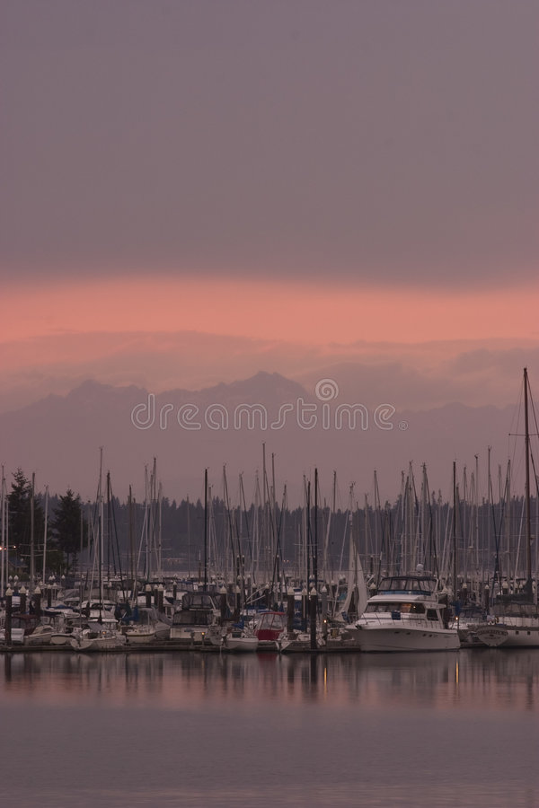 Download Sunset on the wealthy stock image. Image of launch, motorboat - 124743