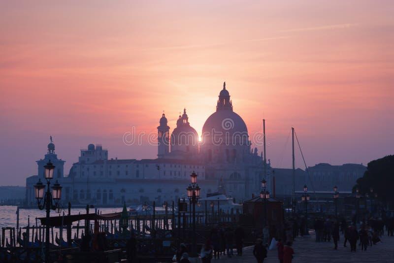sunset Wenecji obraz stock