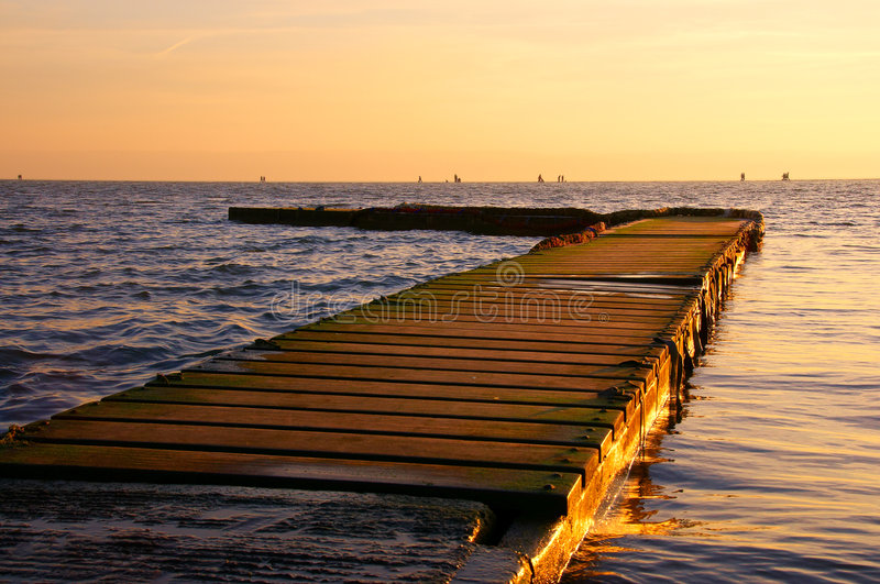 Sunset at West Kirby royalty free stock photo
