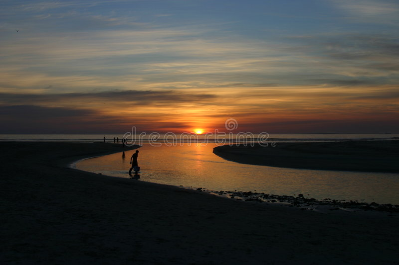 Download Sunset westcoat stock image. Image of ocean, late, bright - 187963