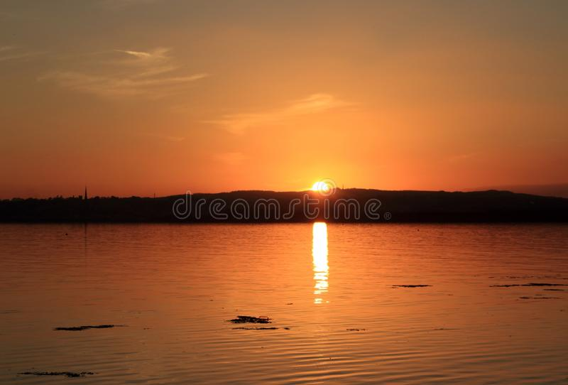Sunset at Wexford Town on the Water royalty free stock photography