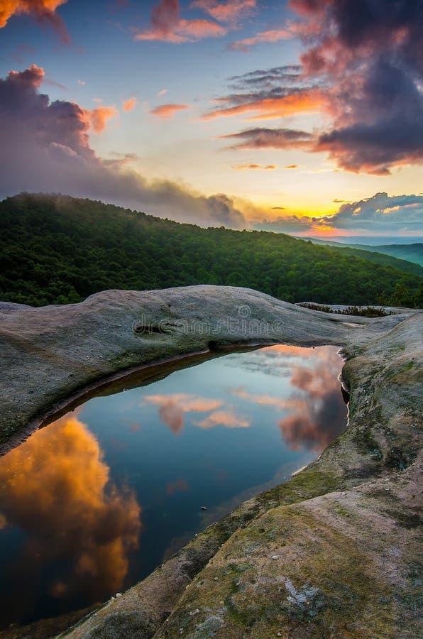 Sunset, White Rocks overlook, Cumberland Gap National Park stock photography