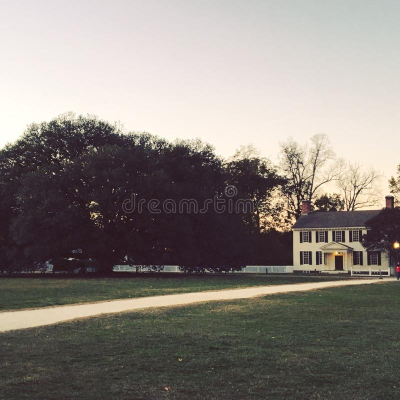 Colonial Sunset stock images