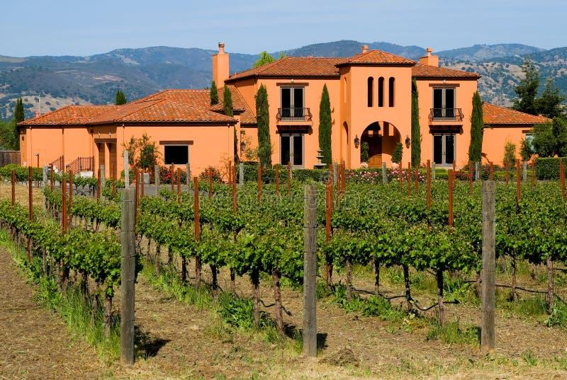 sunset winnica napa valley fotografia stock