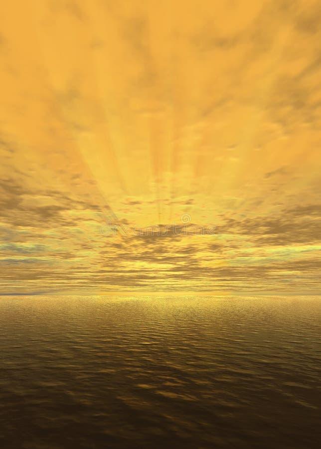 Sunset_yellow ilustración del vector