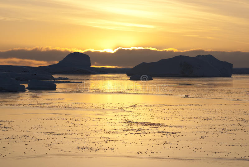 Download Sunset Yellow In The Antarctic. Stock Photo - Image: 23935774