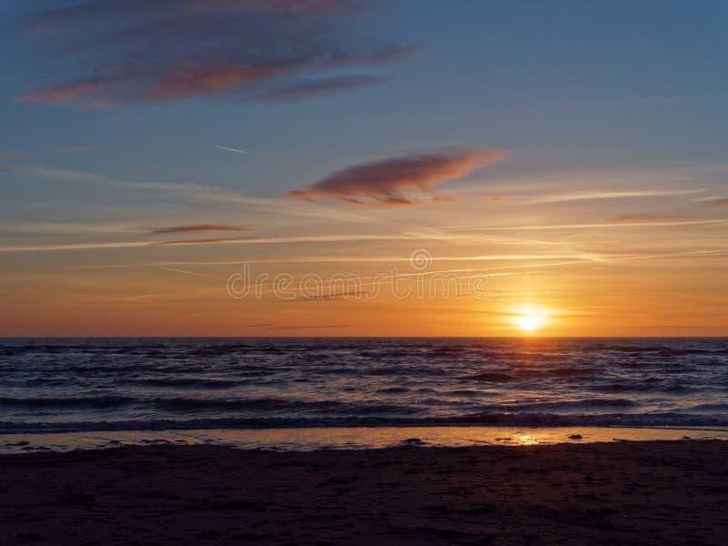 Sunset at Ynyslas 1. Sunset at Ynyslas near Borth in Ceredigion, Wales, UK royalty free stock photography