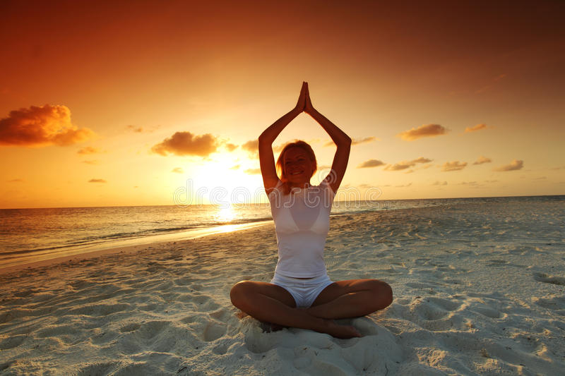 Download Sunset Yoga Woman Royalty Free Stock Photography - Image: 21724467