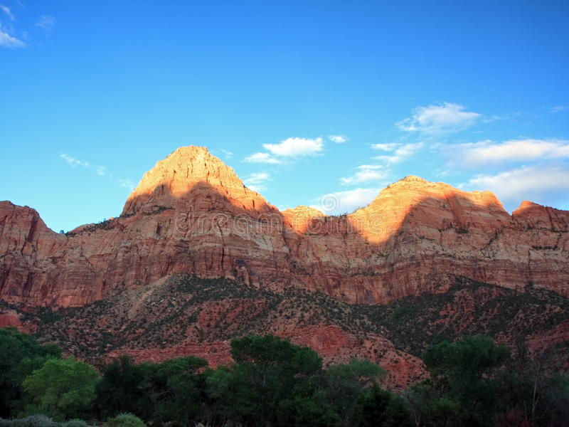 Download Sunset in Zion stock photo. Image of formation, landmark - 10301796