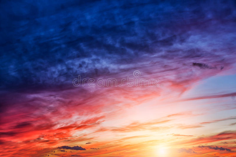 Sunsetclouds foto de stock royalty free