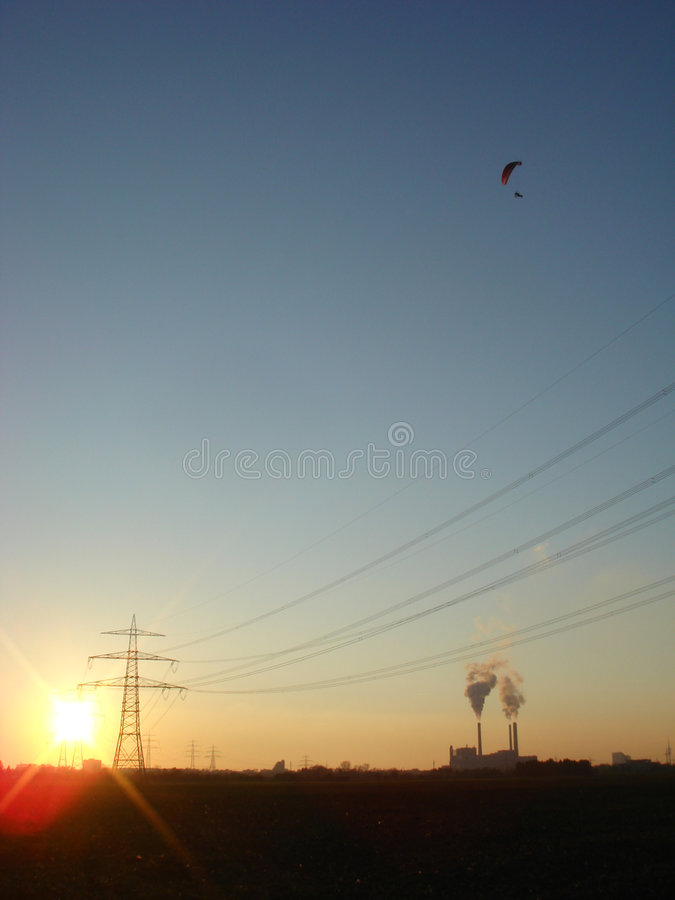 Sunsetflyer   foto de archivo
