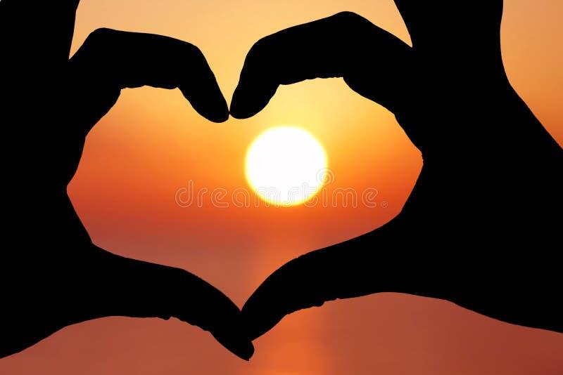 sunsetheartshape zdjęcia stock