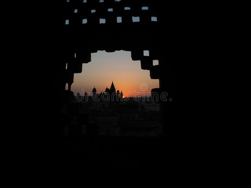 sunsets από το παράθυρο στοκ εικόνες με δικαίωμα ελεύθερης χρήσης