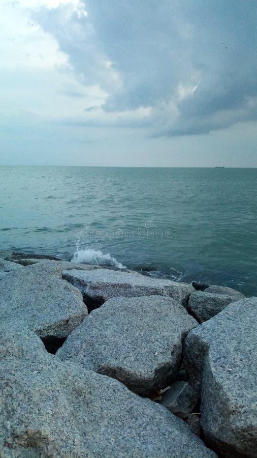 Sunsets στη θάλασσα στοκ φωτογραφία με δικαίωμα ελεύθερης χρήσης