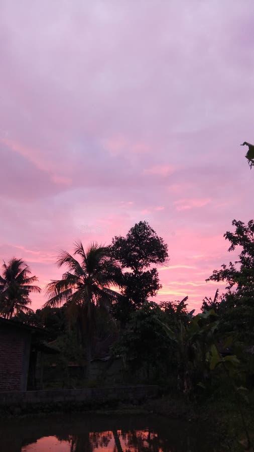 sunsets στον ουρανό στοκ εικόνες