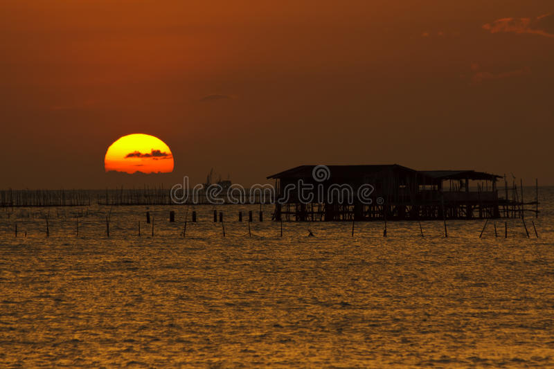 Sunsets. And sunrises in Thailand stock photo