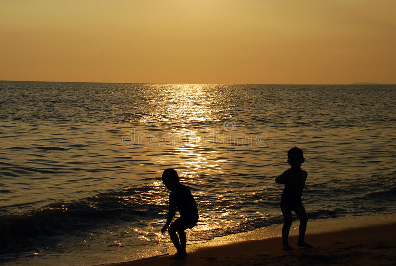 Sunsets. Beautiful sunsets image at the beaches in malaysain stock photography
