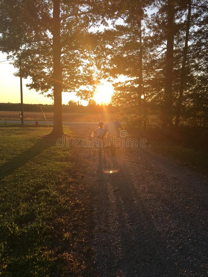 sunsets royalty-vrije stock afbeeldingen