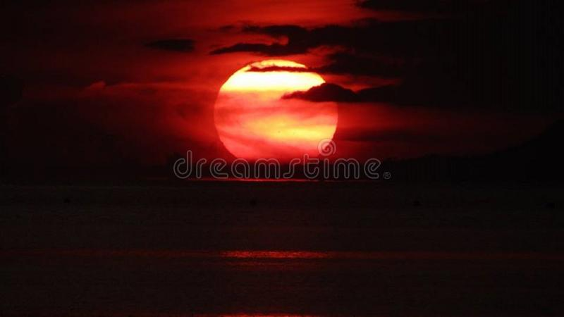 sunsets imagem de stock