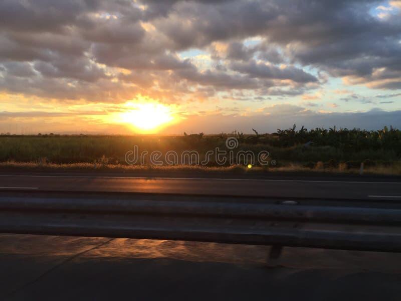 Sunsets en Reizen stock afbeelding