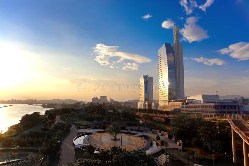 Sunsets in Fuzhou royalty free stock image
