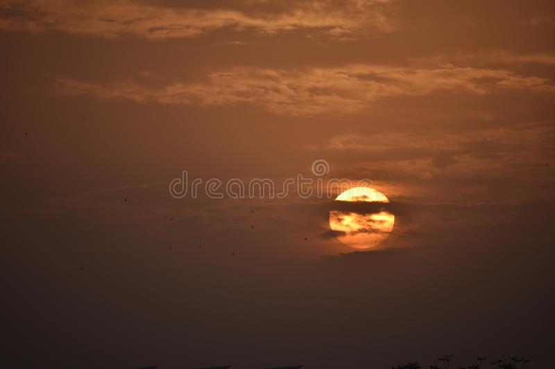 Sunsets. Jaipur sunsets.. Evenings royalty free stock image