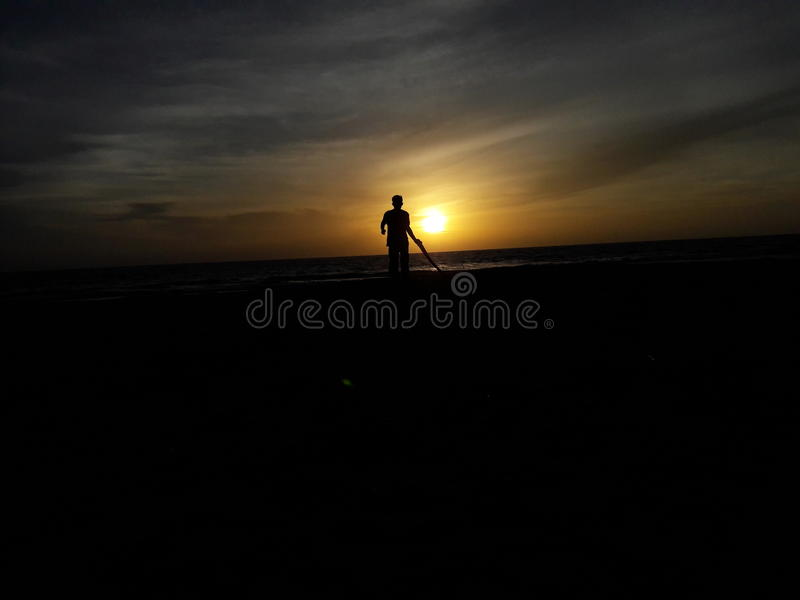 Sunsets with me. View a sunsets at ujong kalak in meulaboh aceh indonesia stock photography
