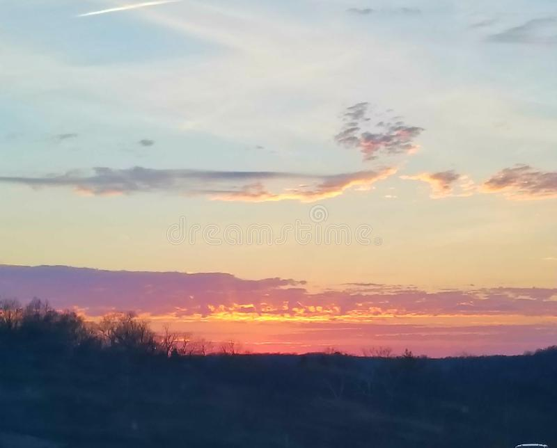 Sunsets in Missouri royalty-vrije stock foto's
