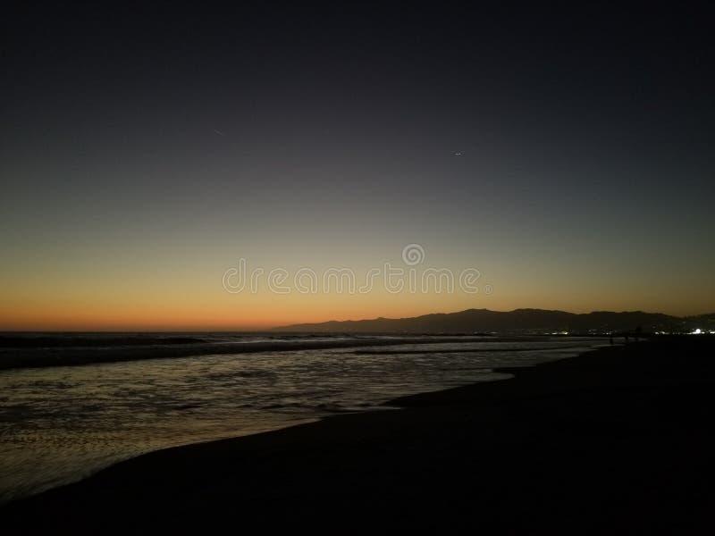 Sunsets na venícia foto de stock