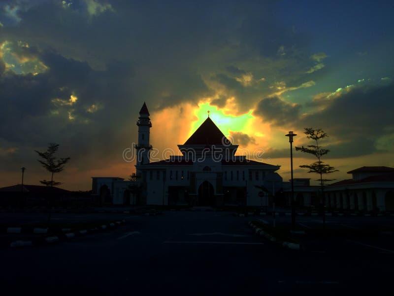 Sunsett em Senawang Seremban foto de stock royalty free