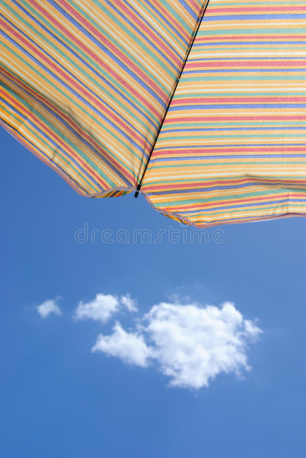 Free Sunshade Against Blue Summer Sky Stock Image - 10900011