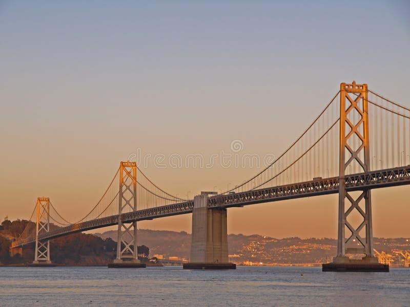 Sunshine above Bay Bridge royalty free stock photography