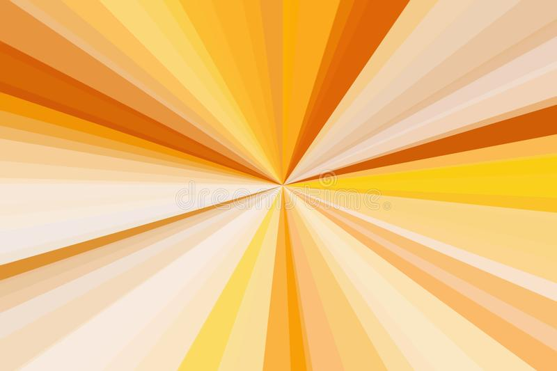 Sunshine abstract rays background. Colorful stripes beam pattern. Stylish illustration modern trend colors. stock illustration