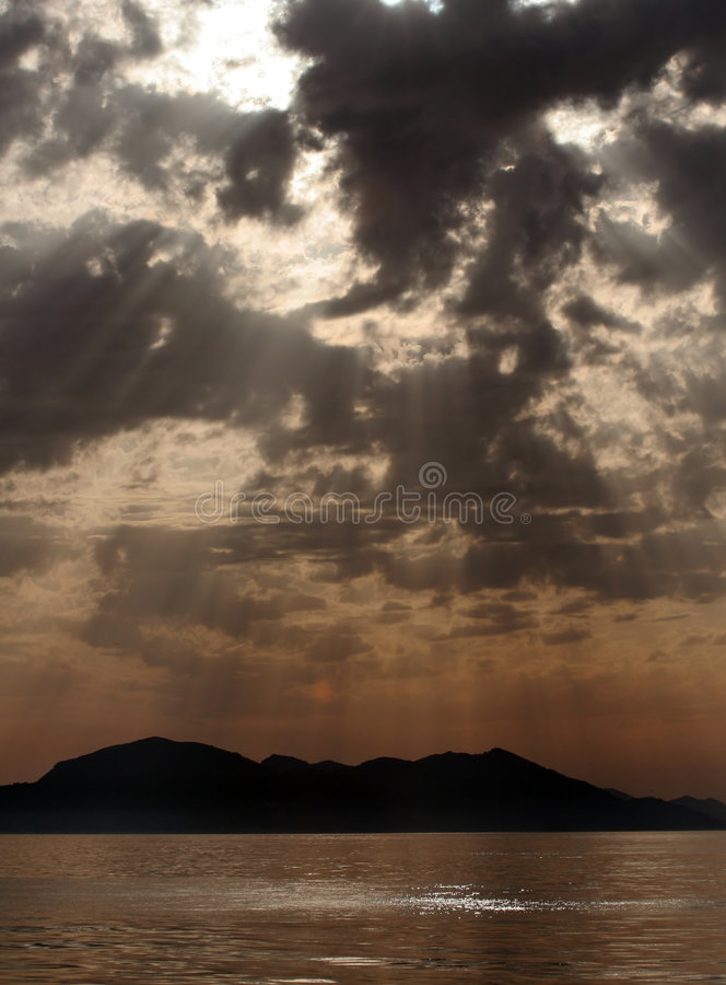 Free Sunshine Between Clouds Royalty Free Stock Photography - 2202697