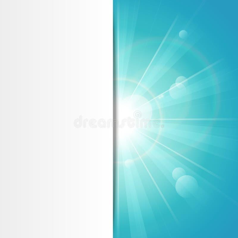 Download Sunshine blue banner stock vector. Image of blue, glow - 26153018