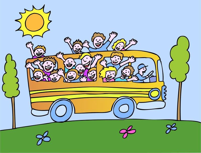 Sunshine Bus - Profile royalty free illustration