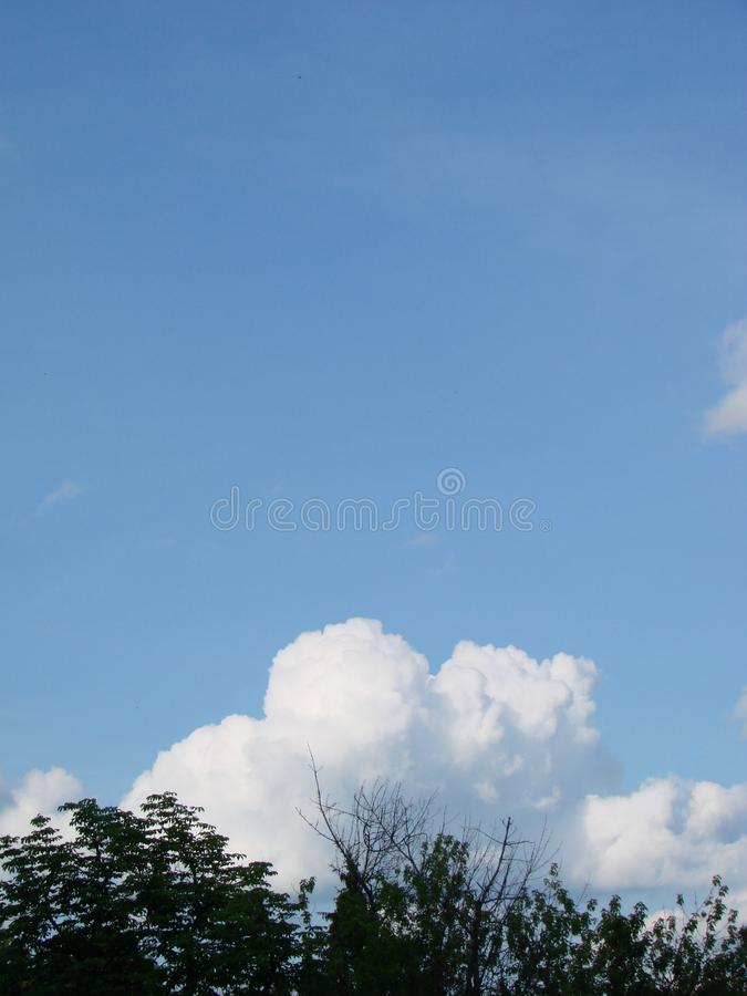 Sunshine clouds sky during morning background. Blue,white pastel heaven,soft focus lens flare sunlight stock images