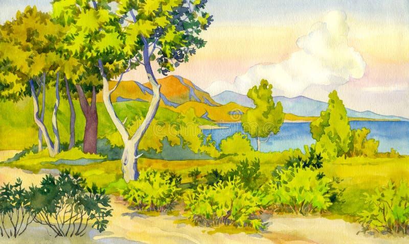 Sunshine Coast vector illustration