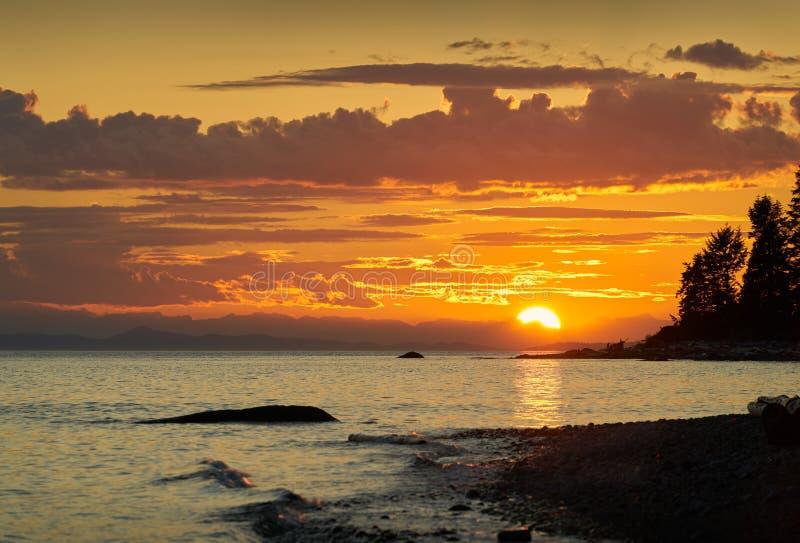 Sunshine Coast Canada Sunset zdjęcie royalty free