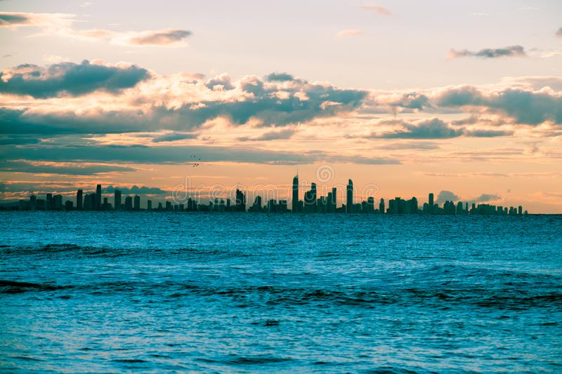 Sunshine Coast Skyline. Incredible skyline of Sunshine Coast, Queensland, Australia stock image