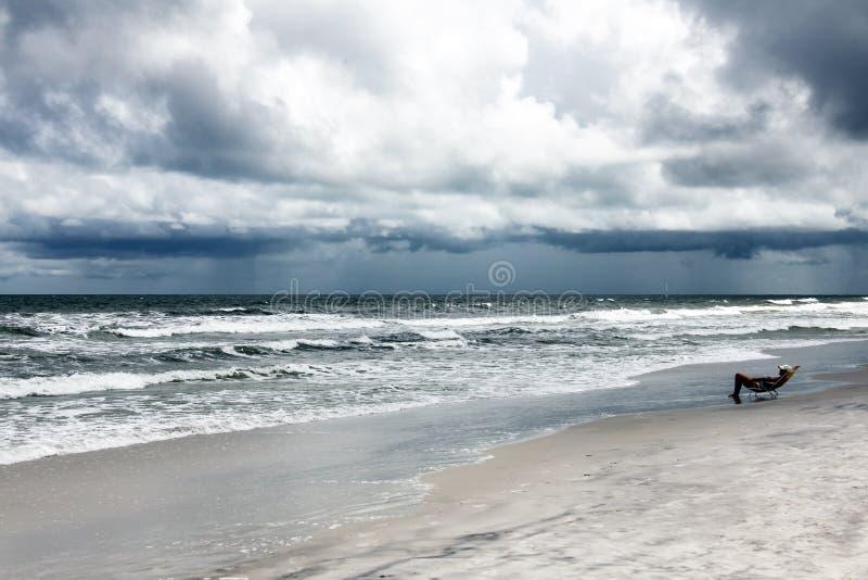 Sunshine Florida beach stock image