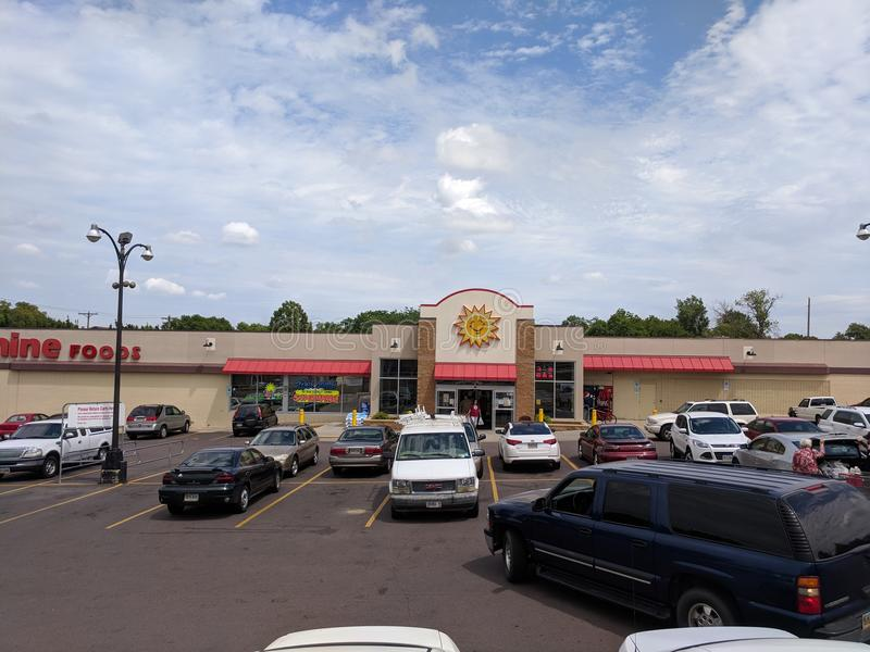 Sunshine Foods. Sunshine grocery store in downtown Sioux Falls has the best meats at the best prices in the Sioux Empire royalty free stock photography