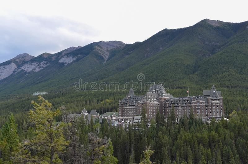 Sunshine, forests and hotel 2 stock images