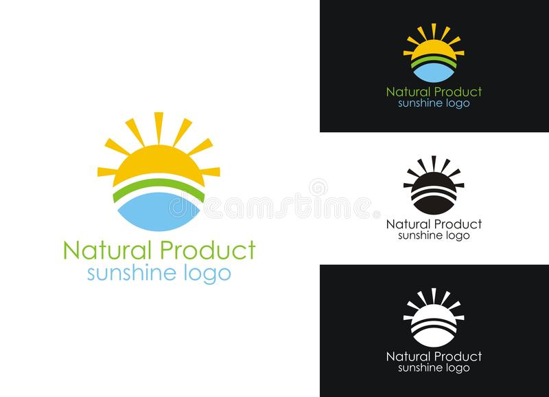 Sunshine logo stock illustration