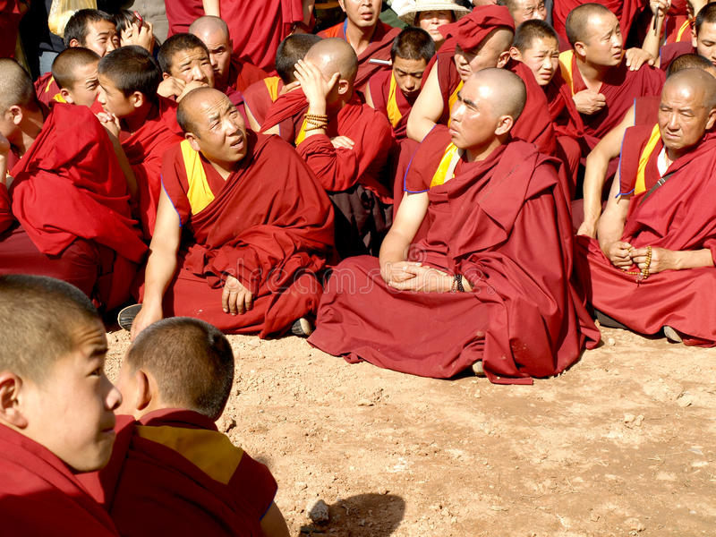 Download In the sunshine of monks editorial photography. Image of gathering - 24830162